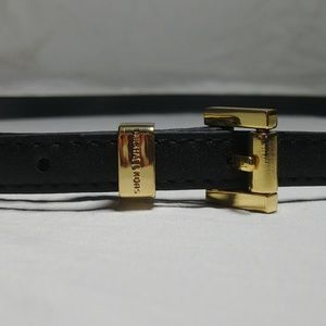 Michael Kors Vegan Leather Skinny Belt GUC
